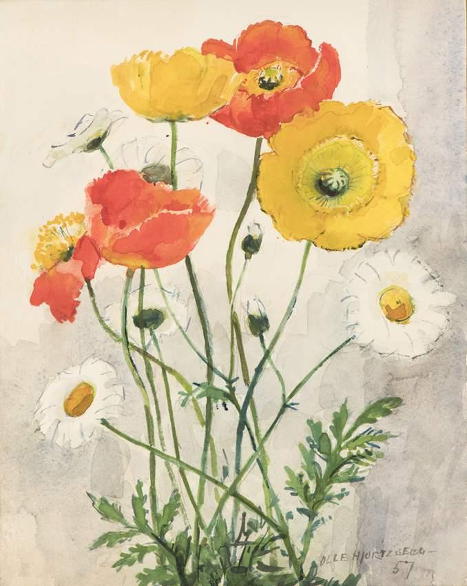 e62315df611b Olle Hjortzberg, akvarell, 29 x 22 cm.